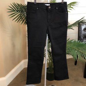 LOFT  Black Modern Kick Crop Jeans NWT